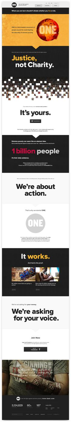 ONE.org on Behance #web
