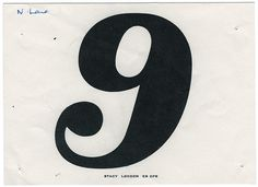 old race numbers #typography