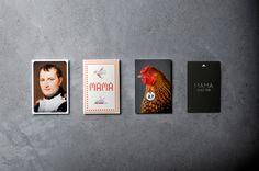 Mama Shelter keycard holders #shelter #cross #france #mama #holders #portrait #french #chicken #hotel #keycard #stitch