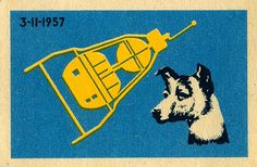 SOVIET SPACE RACE #stamp #design #soviet #space #illustration #rocket #dog
