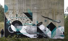 Xuan Alyfe and nelio #geometry #mural #art #street