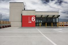 Hunt Studio | Multi-disciplinary design studio | Melbourne — Water Front City Carpark #numeral #red #typography