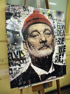 The Art of Greg Gossel #art #pop #cinema #actor #bill murray