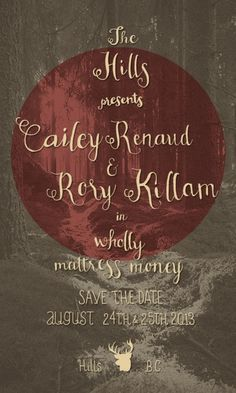 http://alexiskillam.tumblr.com/ #poster #wedding #save the date