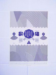 poster art #lines #geometry #print #poster #blue