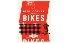 Davies Garage www.mr cup.com #bikes #collar #red #design #graphic #blue #typography