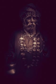 LOOMINOUS : Visions of a third world on the Behance Network #sepia #photography #necklace #man #shadow