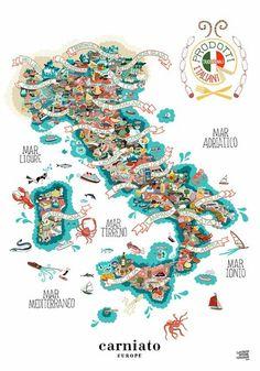 MY ITALY <3 (I'M ITALIAN) #italy #map