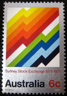SO MUCH PILEUP: Philately Fridays: Australia 1971 #stamp #design #shapes #simple #1970s #australian