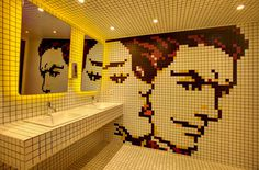 bathroom #bathroom #environmental #colors #tile #lichtenstein