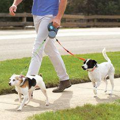 Tangle Free Dual Dog Leash #tech #flow #gadget #gift #ideas #cool