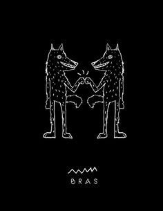 BRAS on Behance #ink #bra #bro #draw #wolf #hands #animals #brothers