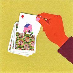 Veronique Joffre, colagene.com #card #cards #hand #illustration #vintage #collage #paper