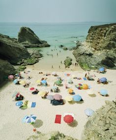 20x200 - Print Information | Praia Piquinia 04/08/07 16h04, by Christian Chaize #photo #beach #umbrellas #summer