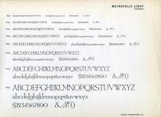 Daily Type Specimen | Metropolis was designed in 1932 by W. Schwerdtner... #typography