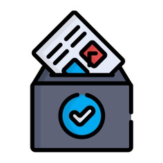 See more icon inspiration related to vote, file, files and folders, elections, votes, election, vase, check mark, archive, communications, box and document on Flaticon.