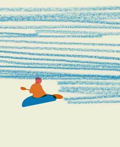 Rhona Garvin #illustration #water #boat #kayak