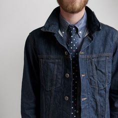 Convoy #jacket #menswear #fashion #jean #tie