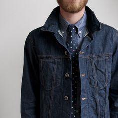 Convoy #jacket #menswear #fashion #jean #tie