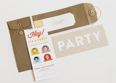 angela hardison.: four birthdays and one big party. #print #type #invitation #party #invite