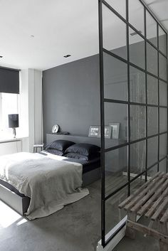 The Design Chaser: Windows + Doors | Steel Framed #interior #design #decor #bed #deco #decoration