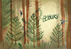 Grenon, l'hercule du nord on Behance #forest #illustration #watercolour