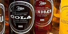 07-05-12-frem2.jpg 700×350 pixels #logotype #lettering #bottle #packaging #design #frem #type #soda