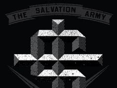 Dribbble - Salvation Arms WARdrobe by Two Arms Inc. #lettering #two #inc #arms #type