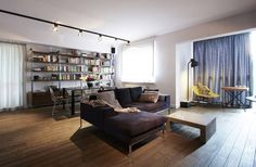 Open Layout Apartment in Warsaw Exhibiting Fresh Industrial Design Elements