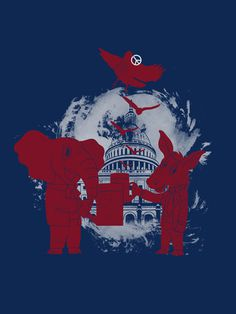 Peace Party #political #design #graphic #illustration #animals