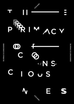 Primacy of Consciousness, poster submitted and designed by Ben Lee (2013)
