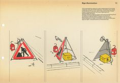 Post Office Road Work Guarding Manual #post #print #design #graphic #office #illustration #manual