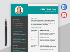 Free Modern Word Resume Template with Professional Look
