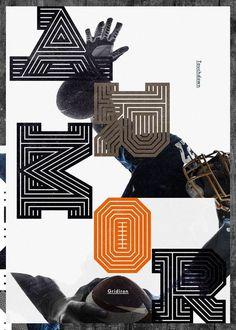 Gridiron typeface by Non Format , via Behance
