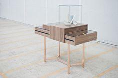 De Intuïtiefabriek #copper #display #design #glass #wood #product