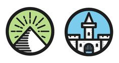 Mini_castle #vector #icons #pyramid #castle #illustraiton