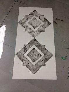 My First Intaglio Imgur #intaglio #printing #shapes #geometric