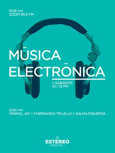 Estereo Mental Flyer #poster #music #blue #flyer #electronic #turquoise #estereo #mental