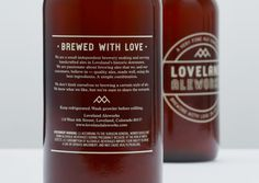 Loveland Aleworks #beer #packaging #design #label #ale #package #typography