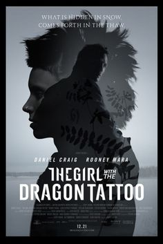 New Poster for Fincher's 'The Girl with the Dragon Tattoo' #movies #design #graphic #poster