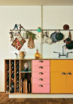 OLD CHUM #interior #kitchen #colour #70s