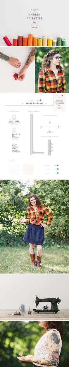 Andrea Pelletier Brand Identity + Website Design - One Plus One Design #Brand #Identity #Website #Design #Brand Identity