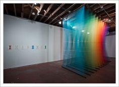 Gabriel Dawe – Plexus Installations / Aqua-Velvet #dawe #visual #gabriel #installation #color #art