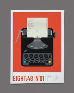 Counter-Print.co.uk - Eight:48 Issue 1 #print #design #graphic #illustration