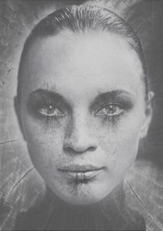 Woman Portrait #white #woman #tree #black #wood #portrait #forest