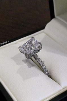 Emerald engagement rings are very common. Because Emerald shape of the stone is popular among brides.