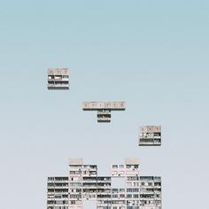 Urban Tetris - Mindsparkle Mag Mariyan Atanasov designed Urban Tetris – a beautiful project which consisted on an urban exploration of abstract shapes of tetris in Sofia, Bulgaria. #logo #packaging #identity #branding #design #color #photography #graphic #design #gallery #blog #project #mindsparkle #mag #beautiful #portfolio #designer