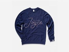 With Pleasure JOYCE #sweatshirt #script #product #minneapolis #embroidered