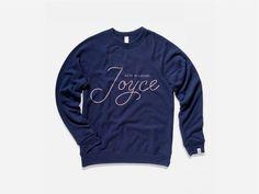 With Pleasure JOYCE #sweatshirt #script #product #minneapolis #embroidered
