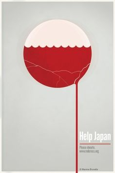 Help Japan on the Behance Network #post #relief #earthquake #brunelle #maxime #help #com #poster #japan #tsunami